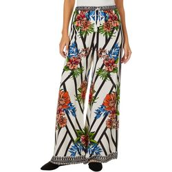 Flying Tomato Womens Graphic Floral Stripe Print Pants