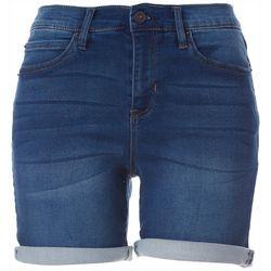 Nicole Miller SoHo High Rise Medium Wash Denim Shorts