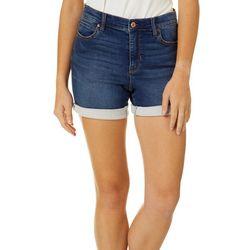 Nicole Miller SoHo High Rise Dark Wash Denim Shorts