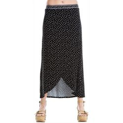 Max Studio Womens Polka Dot Wrap Skirt