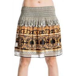 Max Studio Womens Striped Scroll Print Skirt