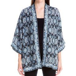 Max Studio Womens Damask Print Kimono
