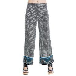 Max Studio Womens Geometric Border Print Soft Pants