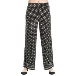 Max Studio Womens Dotted Border Print Soft Pants
