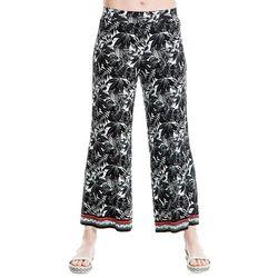 Max Studio Womens Tropical Border Print Soft Pants