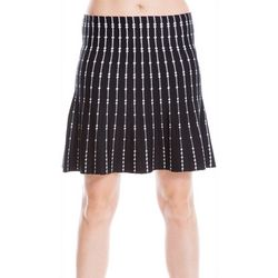 Max Studio Womens Abstract Striped Knit Skirt