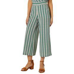 Max Studio Womens Crepe Striped Pull-On Pants