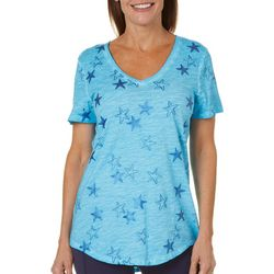 Paradise Shores Womens Starfish Print Top