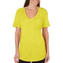 Paradise Shores Womens Short Sleeve Coastal Wash T-Shirt