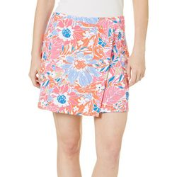 Sunsets and Sweet Tea Womens Tropical Floral Print Skort