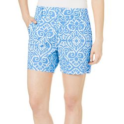 Sunsets and Sweet Tea Womens Damask Print Shorts