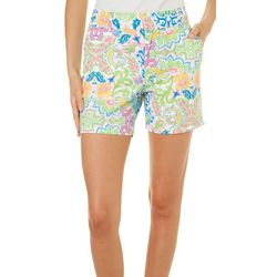 Sunsets and Sweet Tea Womens Floral Damask Shorts