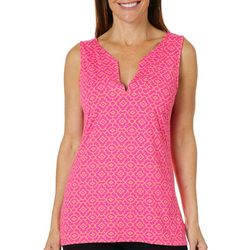 Sunsets and Sweet Tea Womens Geo Medallion Sleeveless Top