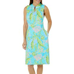 Sunsets and Sweet Tea Womens Coastal Print Shift Dress