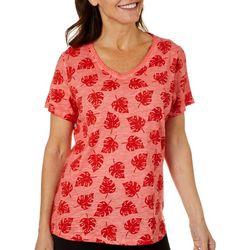 Sunsets and Sweet Tea Womens Palm Leaf T-Shirt