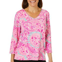Sunsets and Sweet Tea Womens Paisley Print Top