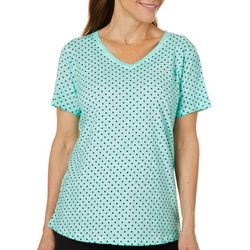 Sunsets and Sweet Tea Womens Polka Dot T-Shirt