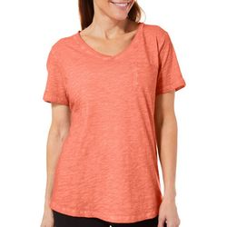 Sunsets and Sweet Tea Womens Washed Pocket Tee
