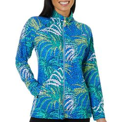 Sunsets and Sweet Tea Womens Abstract Zip Up Jacket