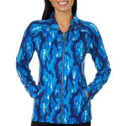 Sunsets and Sweet Tea Womens Painted Zip Up Jacket