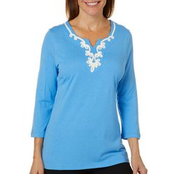 Sunsets and Sweet Tea Womens Embroidered Yoke Top