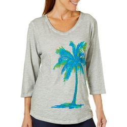 Sunsets and Sweet Tea Womens Tropical Palm Tree Top