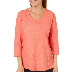 Sunsets and Sweet Tea Womens Washed Pocket Top