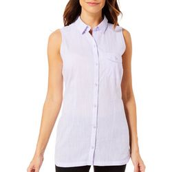 Columbia Womens Solid Camp Henry Sleeveless Tunic Top