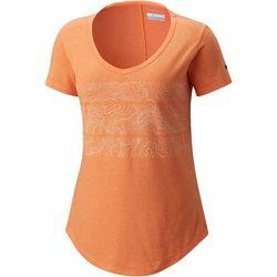 Columbia Womens Willow Beach Horizontal Pattern T-Shirt