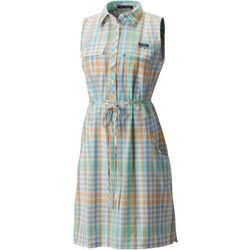 Columbia Womens Super Bonehead II Plaid Sleeveless Dress