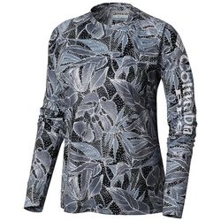 Columbia Womens PFG Super Tidal Leaf Print Long Sleeve Tee
