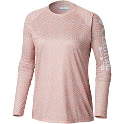 Columbia Womens PFG Super Tidal Scale Print Long Sleeve Tee