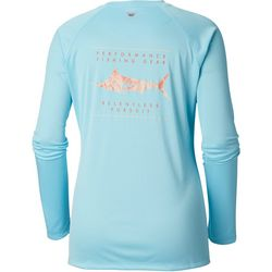 Columbia Womens PFG Tidal Printed Fish Long Sleeve Shirt