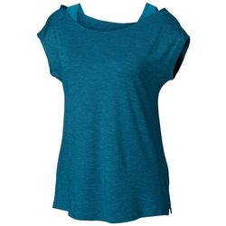 Columbia Womens Place To Place Solid Short Sleeve Shirt