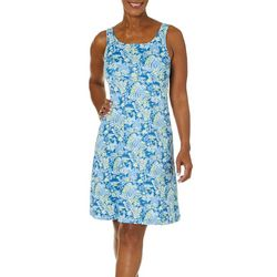 Columbia Womens PFG Freezer III Blue Hawaii Print Dress