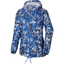 Columbia Womens Flash Forward Tropical Floral Windbreaker