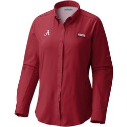 Alabama Womens Tamiami Long Sleeve Shirt By Columbia
