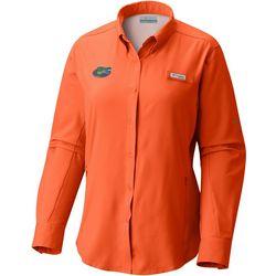 Florida Gators Womens Tamiami Long Sleeve Shirt By Columbia