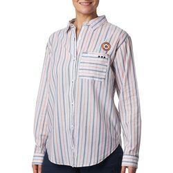 Columbia Womens PFG Sun Drifter Auburn Stripe Shirt