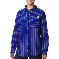 Columbia Womens PFG Sun Drifter Florida Gators Stripe Shirt