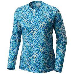 Columbia Womens PFG Super Tidal Speckled Long Sleeve Tee