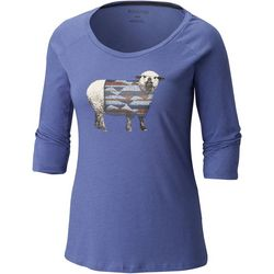 Columbia Womens Sheep Print Top