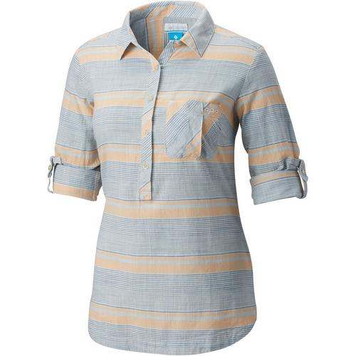 a4795160ba5 Columbia Womens PFG Coral Springs II Woven Striped Shirt