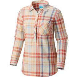 Columbia Womens PFG Coral Springs II Woven Plaid Shirt