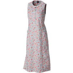 Columbia Womens PFG Harborside Geo Print Linen Maxi Dress