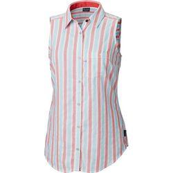 Columbia Womens PFG Super Harborside Woven Sleeveless Shirt