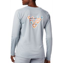 Columbia Womens PFG Tidal Triangle Graphic Long Sleeve Shirt