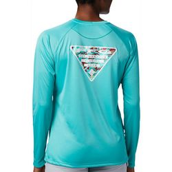 Columbia Womens PFG Tidal Triangle Graphic Long Sleeve