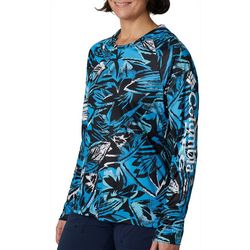 Columbia Womens PFG Tidal Tee Tropical Print Hoodie