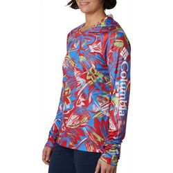 Columbia Womens Super Tidal Tee Tropical Print Hoodie
